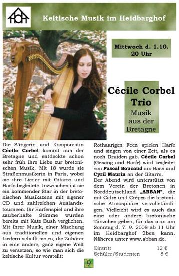 Cécile Corbel Trio Heidbarghof 1-10-2008